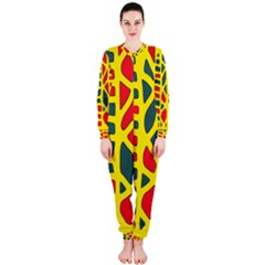 Yellow, green and red decor OnePiece Jumpsuit (Ladies)