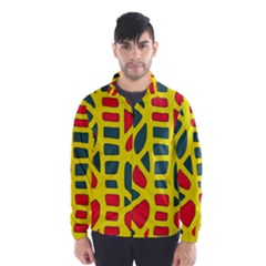 Yellow, green and red decor Wind Breaker (Men)