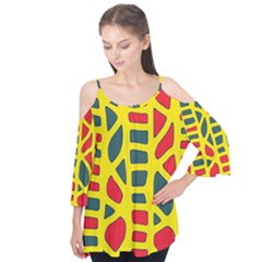 Yellow, Green And Red Decor Flutter Tees