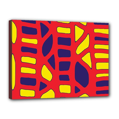 Red, yellow and blue decor Canvas 16  x 12
