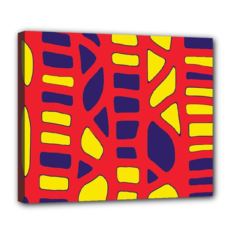 Red, yellow and blue decor Deluxe Canvas 24  x 20