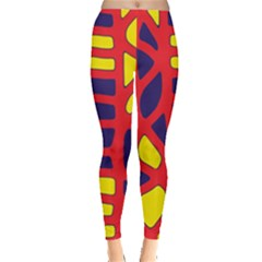 Red, yellow and blue decor Leggings