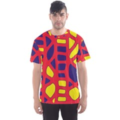 Red, yellow and blue decor Men s Sport Mesh Tee