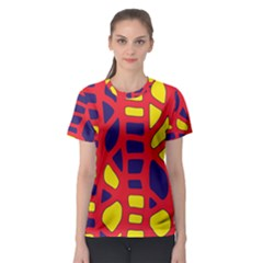 Red, yellow and blue decor Women s Sport Mesh Tee