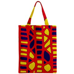 Red, yellow and blue decor Zipper Classic Tote Bag
