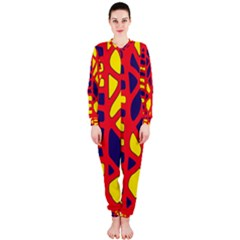 Red, yellow and blue decor OnePiece Jumpsuit (Ladies)