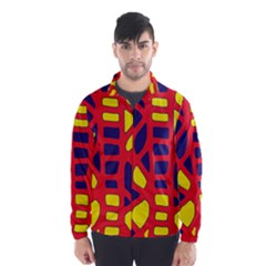 Red, yellow and blue decor Wind Breaker (Men)