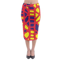 Red, yellow and blue decor Midi Pencil Skirt