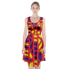 Red, yellow and blue decor Racerback Midi Dress