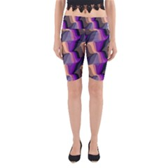 Wavy Pattern                                                                                           Yoga Cropped Leggings