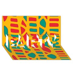 Abstract decor PARTY 3D Greeting Card (8x4)