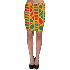 Abstract decor Bodycon Skirt