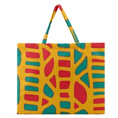 Abstract Decor Zipper Large Tote Bag