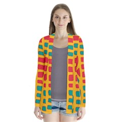 Abstract decor Drape Collar Cardigan