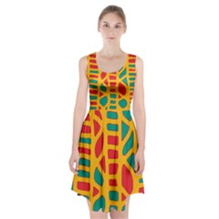 Abstract decor Racerback Midi Dress