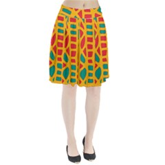 Abstract decor Pleated Skirt