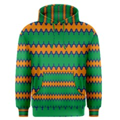 Orange green chains                                                                                            Men s Pullover Hoodie