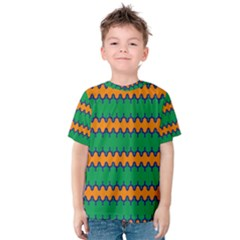 Orange Green Chains                                                                                            Kid s Cotton Tee
