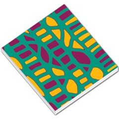 Green, purple and yellow decor Small Memo Pads