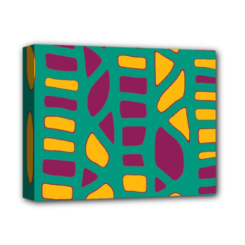 Green, purple and yellow decor Deluxe Canvas 14  x 11