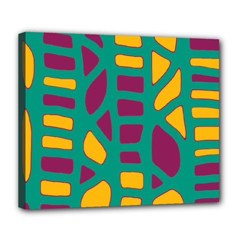 Green, purple and yellow decor Deluxe Canvas 24  x 20