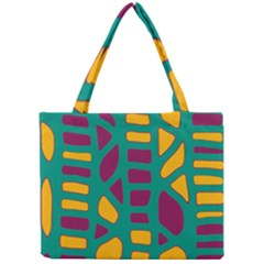 Green, purple and yellow decor Mini Tote Bag