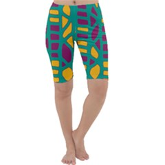 Green, purple and yellow decor Cropped Leggings