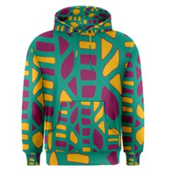 Green, purple and yellow decor Men s Pullover Hoodie