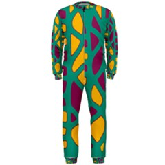 Green, purple and yellow decor OnePiece Jumpsuit (Men)