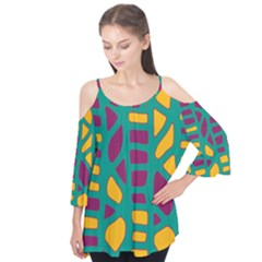 Green, purple and yellow decor Flutter Tees