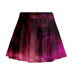 Pink Red Texture                                                                                                Mini Flare Skirt