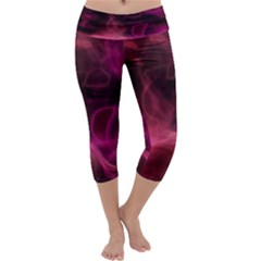 Pink red texture                  Capri Yoga Leggings