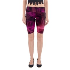 Pink red texture                                                                                              Yoga Cropped Leggings