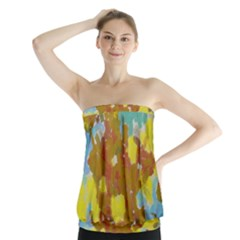 Paint Strokes                                Strapless Top