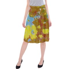 Paint strokes                                   Midi Beach Skirt