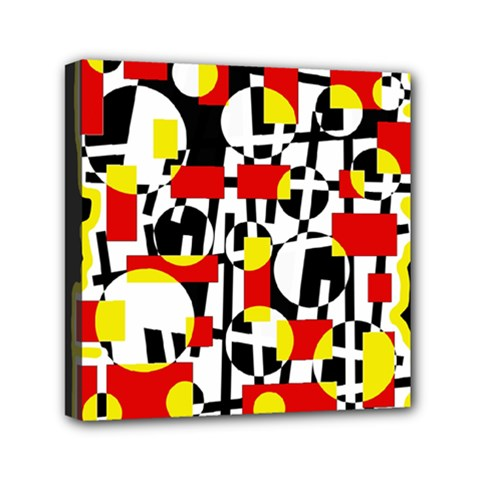 Red and yellow chaos Mini Canvas 6  x 6