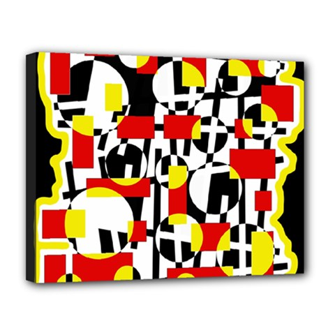 Red and yellow chaos Canvas 14  x 11