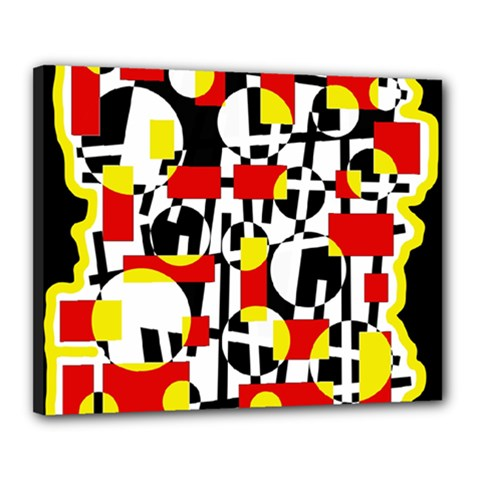 Red and yellow chaos Canvas 20  x 16