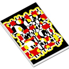 Red and yellow chaos Large Memo Pads