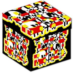 Red and yellow chaos Storage Stool 12