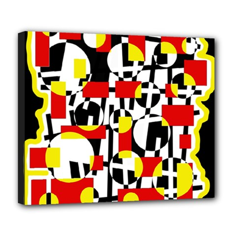 Red and yellow chaos Deluxe Canvas 24  x 20
