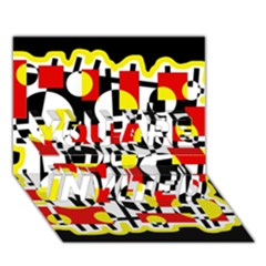 Red and yellow chaos YOU ARE INVITED 3D Greeting Card (7x5)