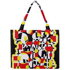 Red and yellow chaos Mini Tote Bag
