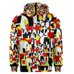 Red and yellow chaos Men s Pullover Hoodie