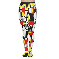 Red and yellow chaos Women s Tights