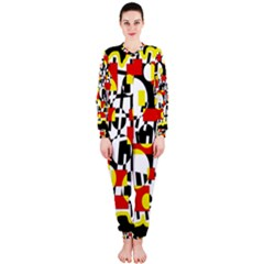 Red and yellow chaos OnePiece Jumpsuit (Ladies)