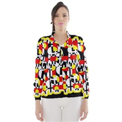 Red and yellow chaos Wind Breaker (Women)