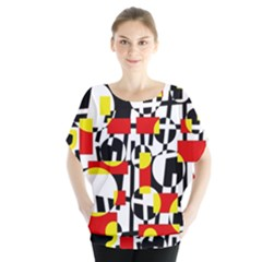 Red and yellow chaos Blouse