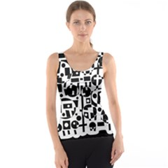 Black and white abstract chaos Tank Top