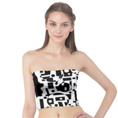 Black and white abstract chaos Tube Top